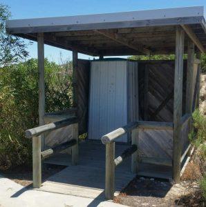 Boat ramp toilet
